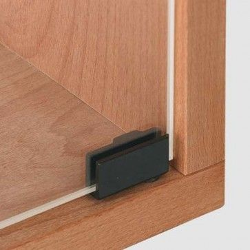 Glasdeurscharnier INLIGGEND - Zink zwart mat - Max deurafmeting H800 x B400 x D6,5 mm - openingshoek 90°