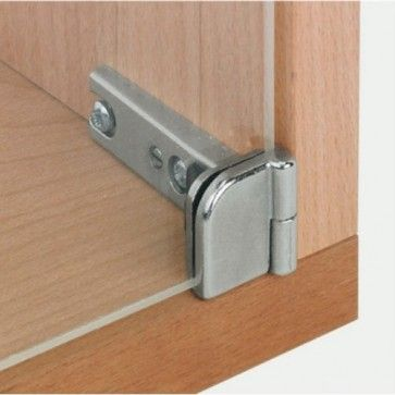 Glasdeurscharnier - INLIGGEND - zink-aluminium legering - Glasdikte tussen  4 en 6 mm - max deur H800 x B350 mm - Openingshoek 180° - Zonder glasboring