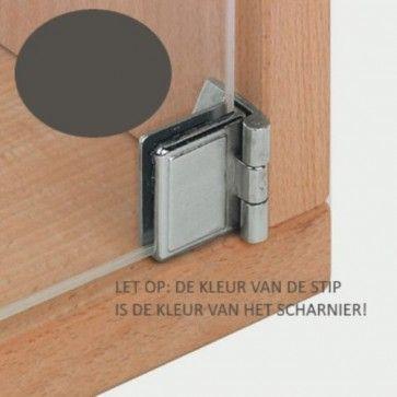 Glasdeurscharnier - INLIGGEND - zink-aluminium legering met zwart matte afwerking - Glasdikte max 5 mm - Openingshoek 170° - zonder glasboring