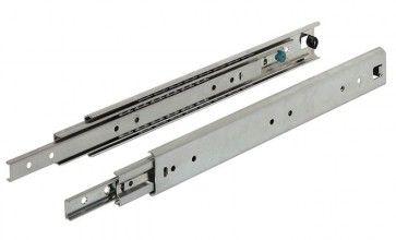 Aluminium Ladegeleider - kogelgelagerd - Inbouwlengte 300 - 700 mm - volledig uittrekbaar - Max 50 Kg