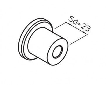 Afstandhouder railbevestiging lengte 23mm