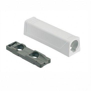 Blum Tip-On adapter Zodat inboorvariant kan worden geschroefd -WIT - productafbeelding - 956.1201/WIT