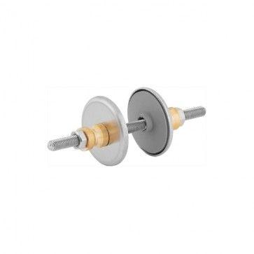 Bevestigingsset t.b.v. dubbelzijdige montage - Met 32 en 38mm Rozet - Door de deur - Voor diameter deurgreep 25 en 32 mm