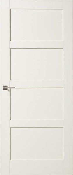 Carsten houten paneeldeur - wit gegrond - modern 4 vlakken - max 2015 tot 2315 mm