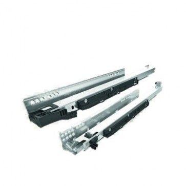 Blum Movento 760HM Blumotion softclose & Tip-on druk open ladegeleider - kogelgelagerd - inbouwlengte 450 mm - volledig uittrekbaar - max 40 Kg - staal verzinkt