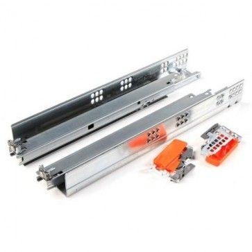 Blum Tandem 566H Blumotion softclose ladegeleider - kogelgelagerd - inbouwlengte 650 mm - volledig uittrekbaar - max 50 Kg - ZELFSLUITEND + gedempt - staal verzinkt