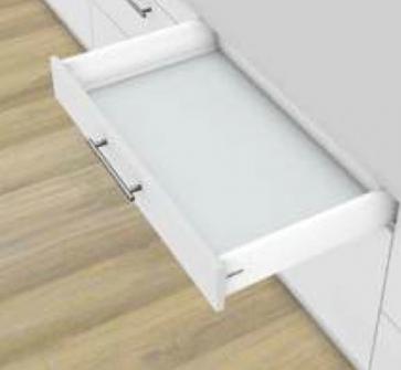 Blum Antaro Blumotion - Lade K - hoogte 115mm - 65kg - Zijdewit
