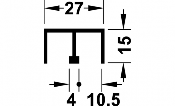 Boven geleidingsprofiel - lengte 500 cm