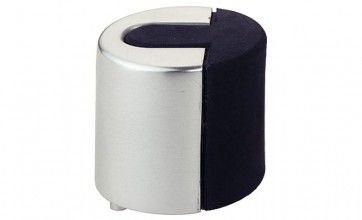 Deurstopper rond - zilverkleurig aluminium Rond 46 mm x 40 mm hoog
