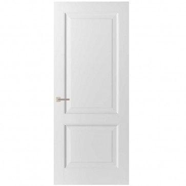 Klassieke binnendeur - wit met twee vlakken - ojiefprofiel - max 1200 x 2700 mm