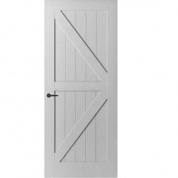 Landelijke binnendeur - 3,8 cm dik - wit met vier vlakken - max 1200 x 2700 mm