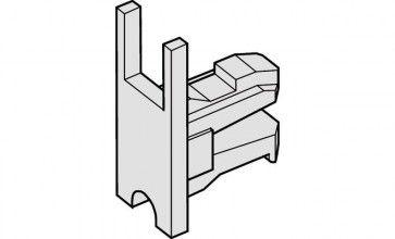 Eindkapje voor glasdeurprofiel / loopschoenrail
