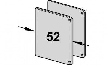 Eindkappenset voor 1220 railset - 55mm breed