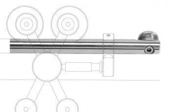 Exterus bovenrail lengte 253 cm