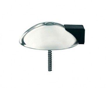 Deurstopper rond - mat RVS Rond 70 mm x 20 mm hoog