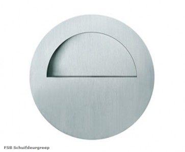 FSB ronde open schuifdeurgreep RVS Inwerkgreep - doorsnede 75 x 19 mm