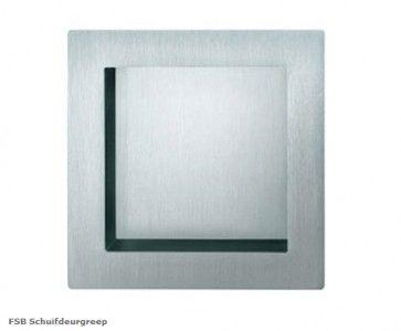 FSB vierkante schuifdeurgreep RVS Inwerkgreep - doorsnede 75 x 19 mm