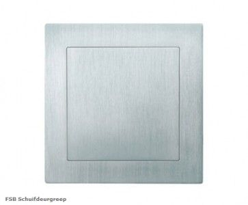 FSB vierkante FLUSH schuifdeurgreep RVS Inwerkgreep - 70 x 70 x 19 mm