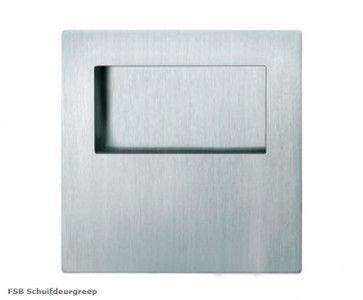 FSB vierkante open schuifdeurgreep RVS Inwerkgreep - 70 x 70 x 19 mm