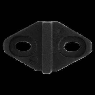 Vloergeleider - zwart kunststof