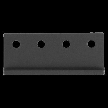 koppelstuk rails - zwart staal verzinkt