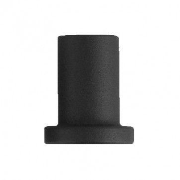wandmontagesteun voor schuifdeur - zwart staal verzinkt - 3,5 cm