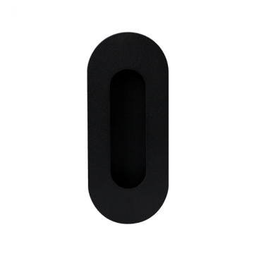 Ovale schuifdeurkom - zwart RVS - 120 mm tot 180 mm hoog