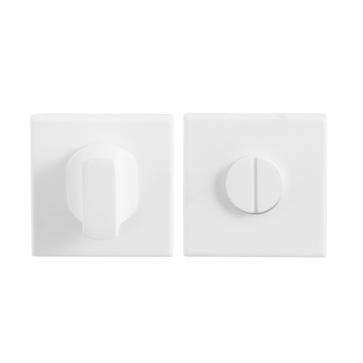 Toiletgarnituur vierkant - wit RVS - 50x50x8 mm