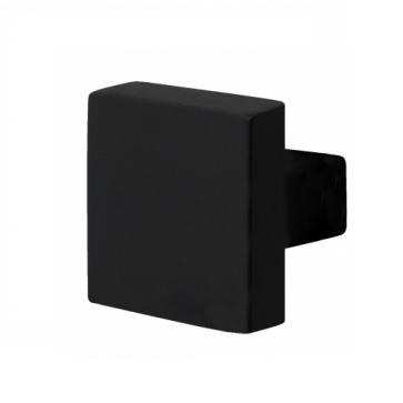 Deurknop vierkant - zwart RVS - 53x53mm
