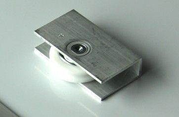Looprol onderlopend schuifdeur max 80 Kg/ stuk - Infreesbaar - Deurgewicht max 160 kg