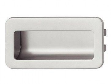 Inbouw ladegreep aluminium - Mat chroom of Mat nikkel - voor houten ladefronten