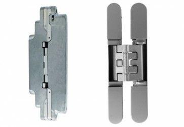 NIEUW: Kubica K2400 DINonafhankelijk - chroom mat - paneeldikte minimaal 25 Max deurgewicht 52 Kg bij 3 scharnieren