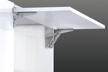 Klepkast scharnier staal - geveerd - vernikkeld LINKS Klephoogte 300 -500 mm Klepbreedte 500 -1200 mm