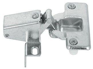 Klepscharnier recht met plug en veer 22mm Om in te persen, met zelfsluit