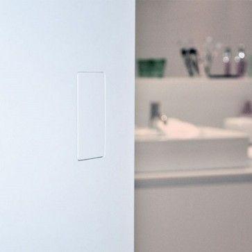 No-Ha Magnetisch Insteekslot 2.0 L mini Nm 937 (met optie voor vrij bezet / wc knop)- Greeploos systeem - strak en minimalistisch -scharnierende deur