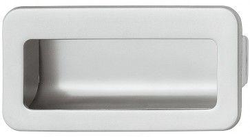 Komgreep verzinkt chroom mat 110x56mm