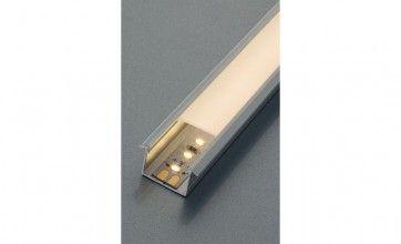 Aluminium profiel voor LED strips lengte 2500 mm (18 x 8,5 mm) inkortbaar - zilverkleurig geeloxeerd