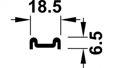 Bodem geleidingsprofiel- lengte 200 cm