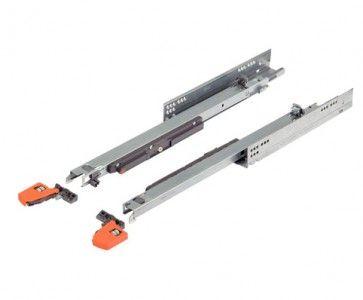 Blum Movento 760H Blumotion softclose ladegeleider - kogelgelagerd - inbouwlengte 320 mm - volledig uittrekbaar - max 40 Kg - staal verzinkt