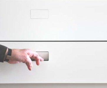 No-Ha greep Nk 250 Greeploze bediening voor lades en kasten - strak en minimalistisch.