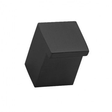 Vierkante opbouw meubelknop - zwart structuur - Lengte 25 x Breedte 20 x Deurdikte 20 mm