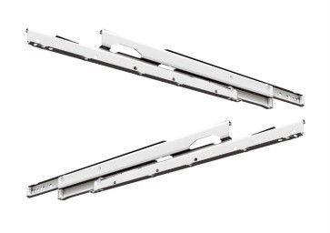 ROL ladegeleider - inbouwlengte 800 mm - volledig uittrekbaar - max 50 Kg - staal wit gepoedercoat