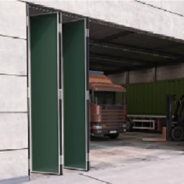 Voorbeeldset - Vouwdeursysteem buitendeuren - ROB 130.000 - 5 panelen - 55kg per paneel