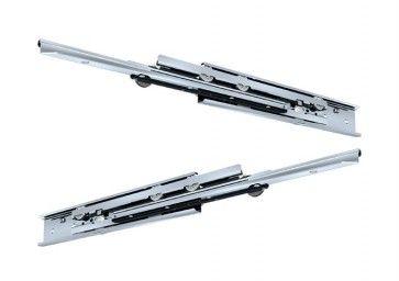 RVS rol ladegeleider - volledig uittrekbaar - inbouwlengte 400 - 700 mm - max 68 Kg