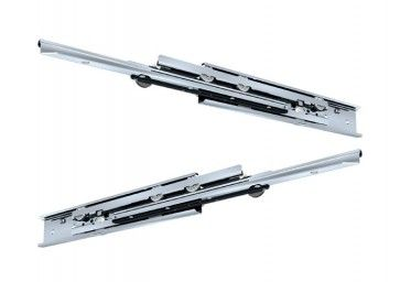 Rol ladegeleider - Inbouwlengte 650 mm - volledig uittrekbaar - Max 60 Kg - Staal verzinkt