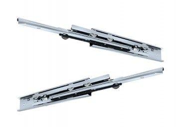 RVS rol ladegeleider - volledig uittrekbaar - inbouwlengte 550 mm - max 68 Kg