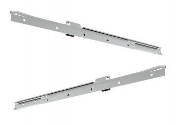 RVS rol ladegeleider - deels uittrekbaar - inbouwlengte 650 mm - max 50 Kg