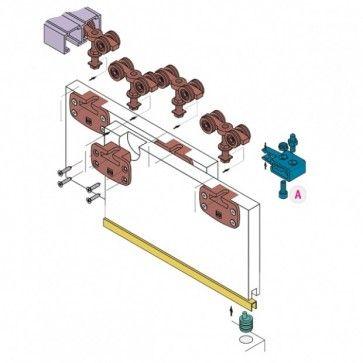 Voorbeeld set - schuifdeurkast systeem 1050 - inliggend 80 Kg