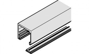 Rail voor systeem 2600 lengte 200 cm RVS kleurig (geeloxeerd)