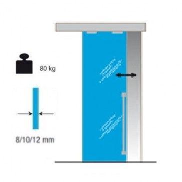 Schuifdeursysteem Pro 80kg - 1700 Glas